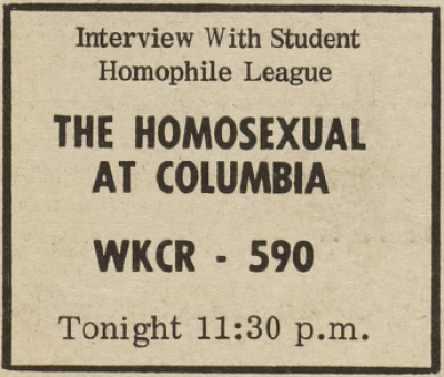 Columbia Student Homophile League